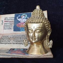 Tête de Bouddha en laiton