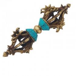 Dorje du bouddhisme tibétain en turquoises