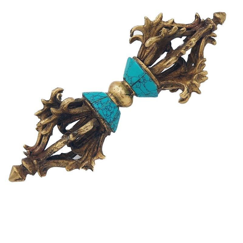 Dorje tibétain turquoises et corail