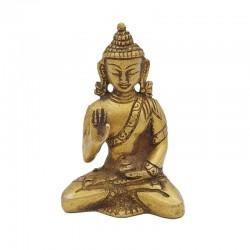 Statuette de Bouddha en laiton abhaya-mudra