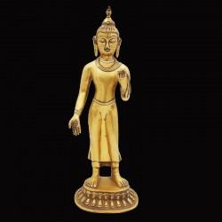 Bouddha debout fonte de laiton