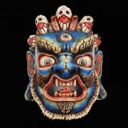 Masque en bois mahakala