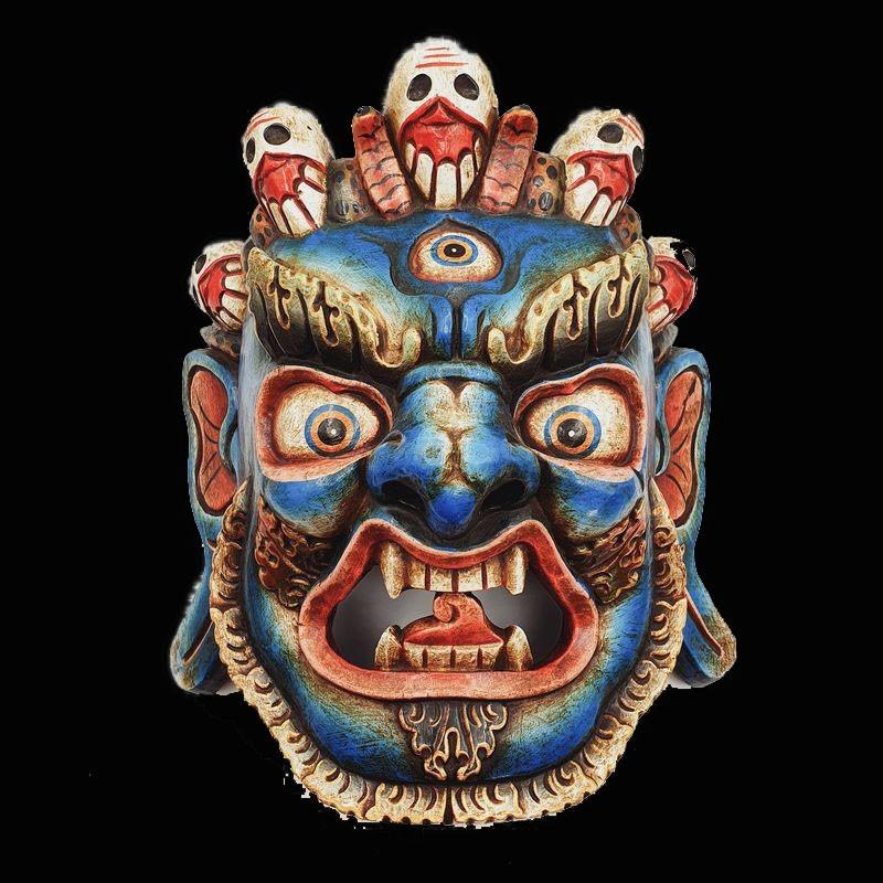 Masque en bois de Ganesh