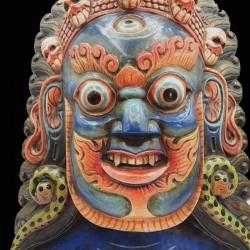 Masque mahakala en bois