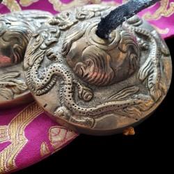 Paire de Tingshas avec alliage 5 métaux