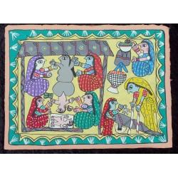 peinture mithila du Népal
